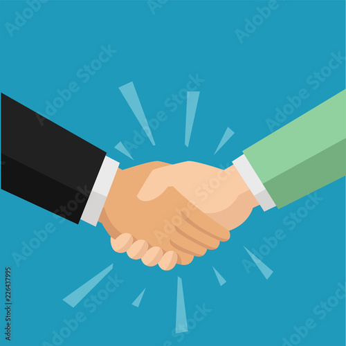 Two people shaking hand for agreement Canvas-taulu