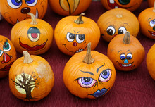 Group Of Painted Pumpkin For H...