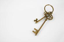 House Key On White Background