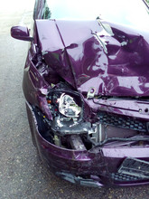 Damage Car Caused By Accident.