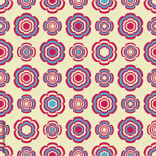Fototapeta Seamless pattern with a floral pattern. obraz na płótnie