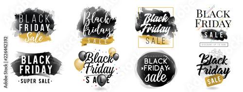 Fotografia Black friday sale. Vector typography.