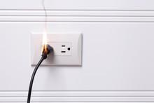 Overheated Electric Plug Got On Fire