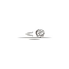 Tumbleweed Desert Icon. Elemen...