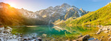 Fototapeta Natura - Tatra National Park, a lake in the mountains at the dawn of the sun. Poland