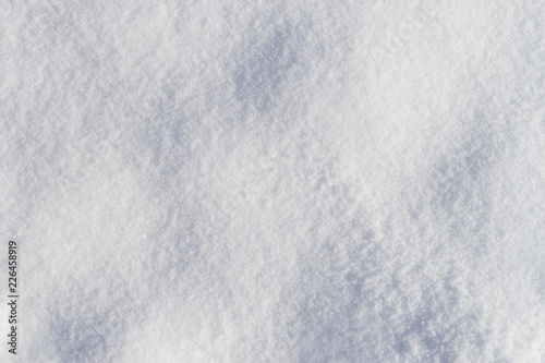 Fotografía  Bumpy fresh frosty snow texture top view