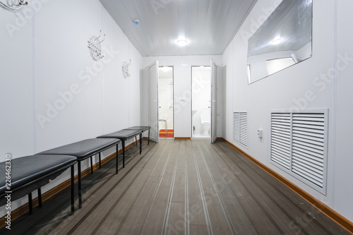 Obraz na płótnie Moscow, Russia - September, 23, 2018: interior of a cloakroom in Moscow priver s