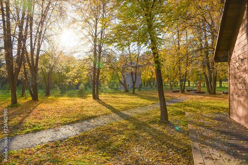 Keuken foto achterwand Begraafplaats Autumn landscape. Autumn Park.