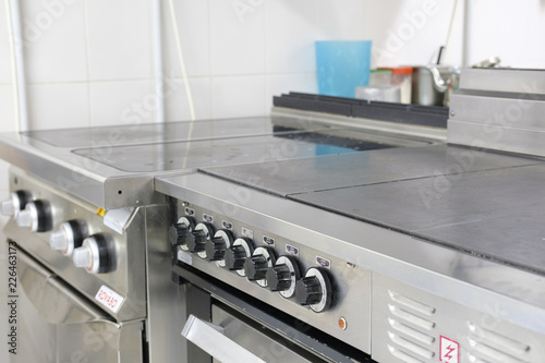 Moscow, Russia - September, 24, 2018: Interior of a professional kitchen in Moscow privet school
