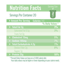 Nutrition Facts Label Design Template For Food Content. Per Vector Illustration.