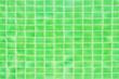 Leinwanddruck Bild - Swimming pool green mosaic background