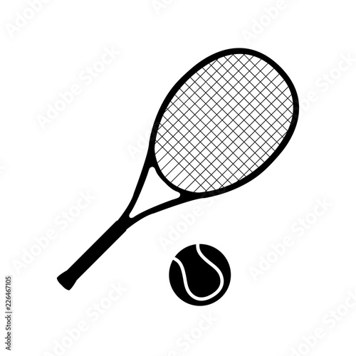 Tennis icon, logo on white background Wallpaper Mural