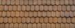 Braune Holzschindeln