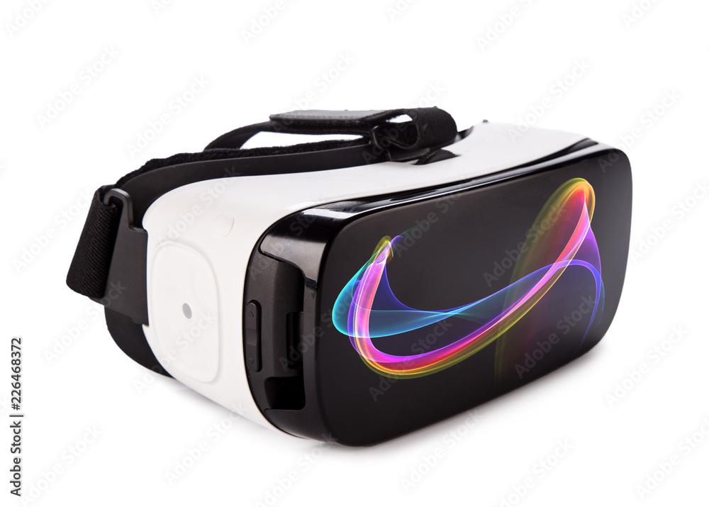 Fototapeta VR virtual reality glasses on white background