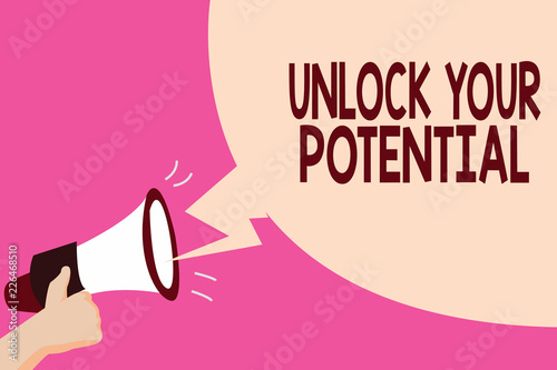 Photo Writing note showing Unlock Your Potential question