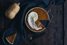 Pumpkin Pie And Slice