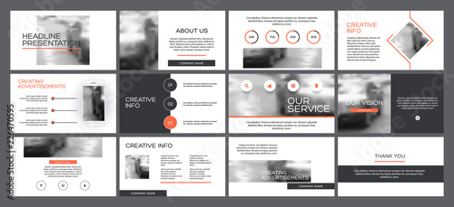Fototapeta Business presentation templates from infographic elements. obraz