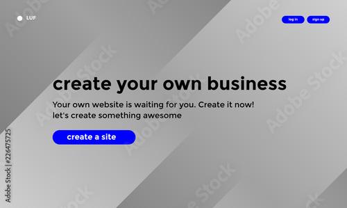 Fotografía  Web site or mobile app landing page
