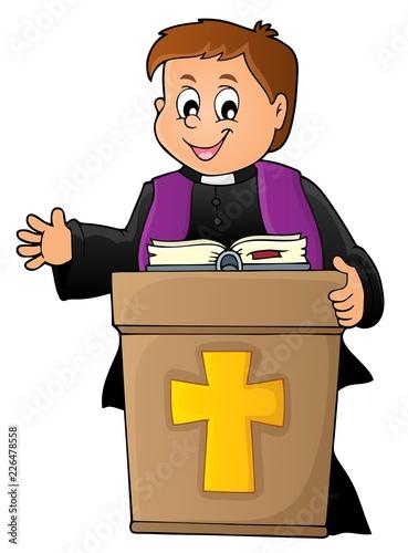 Fotobehang Voor kinderen Young priest topic image 2