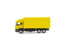Yellow Truck Miniature On Whit...