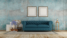 Old Room With Blue Calssic Sofa