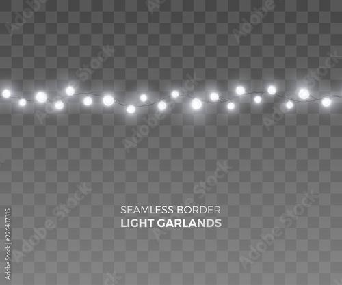Vector Seamless Horizontal Border Of Realistic Light