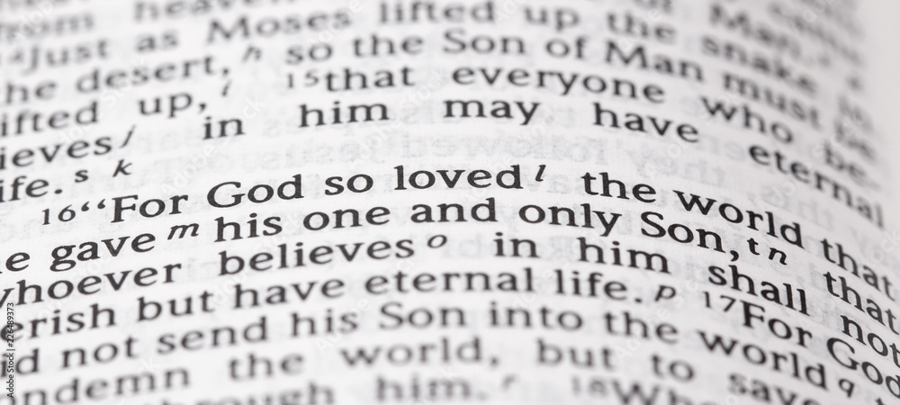 Fototapety, obrazy: God So Loved the Word That He Gave His One and Only Son
