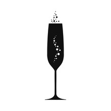 Champagne Goblet Illustration....