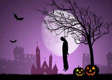 Illustration Of Hanged Man Of Halloween