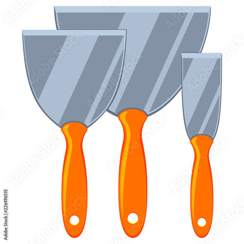Fotografie, Obraz  Colorful cartoon metal spatula set