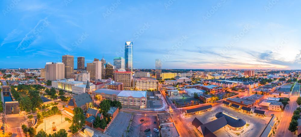 Fototapety, obrazy: Oklahoma City, Oklahoma, USA Skyline