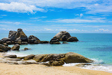 South China Sea Vietnam Coast Rocks