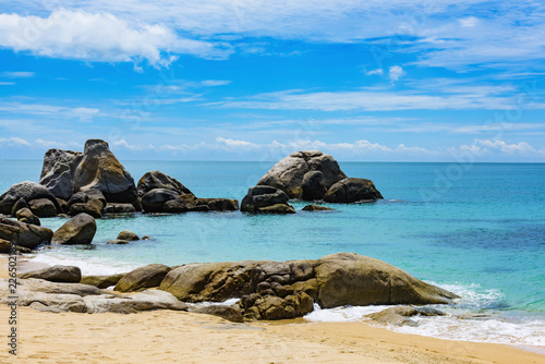 Tuinposter Kust South China sea Vietnam coast rocks