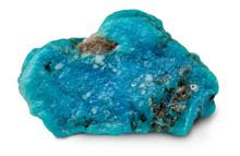 Rough Turquoise Stone Isolated On White Background