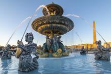 Fountain At Place De La Concorde, Paris, France