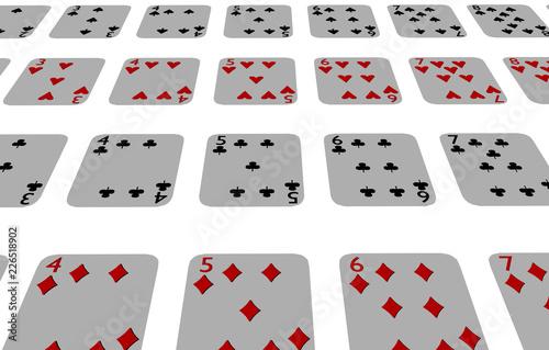 Fotografia  Aufgedeckte Spielkarten