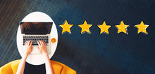 Five Star Rating With Person U...