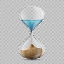 Water In Hourglass Becomes A S...