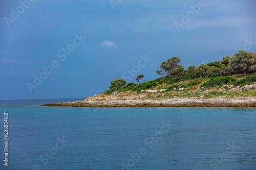 In de dag Kust Küste Kroatiens