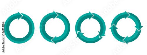 Photo  Set of circular arrows. Vector illustration.