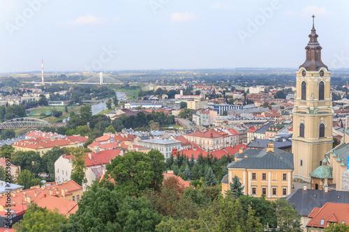 Obraz Przemysl, polish Podkarpacie. City Panorama from castle tower. - fototapety do salonu