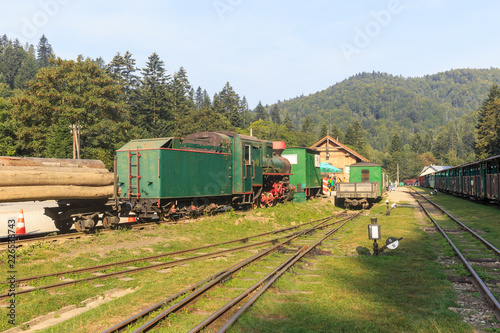 Bieszczady Forest Railway, narrow gauge railway built in a sparsely populated, forest region of Bieszczady Mountains in Poland