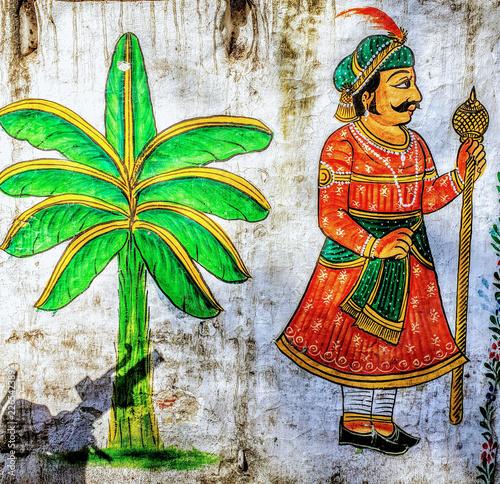 Maharadscha / Malerei / Bananenstaude