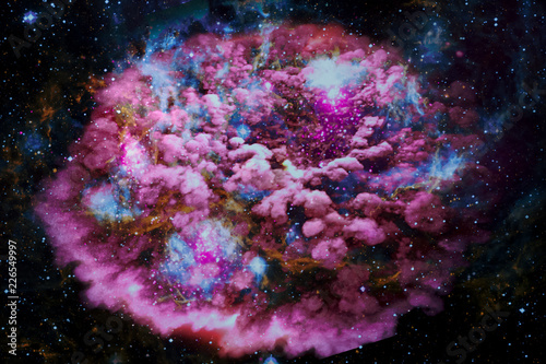 Landscape background of fantasy alien galaxy. The elements of this image furnished by NASA.
