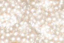 Bright Glittering Light Bokeh Background