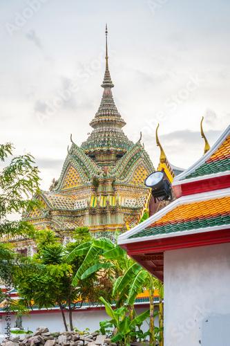 In de dag Bangkok Pagodas at Wat Phra temple, Bangkok