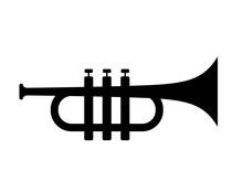 Trumpet Silhouette Vector Icon