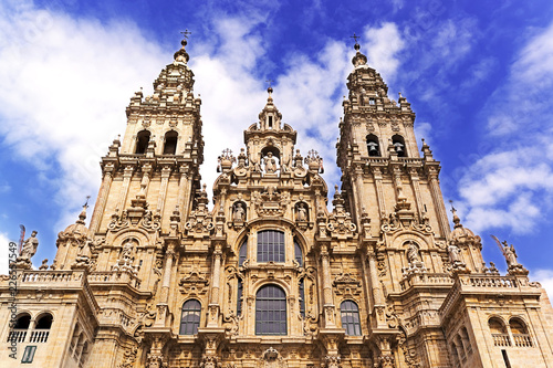 Santiago of Compostela Cathedral , Galicia, Spain Fototapet