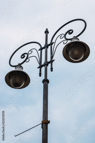 Beautiful lamp on street