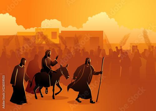 Jesus comes to Jerusalem as King
